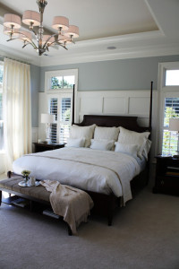 A Pretty Paneled Headboard Wall