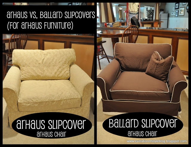 Slipcovers Arhaus vs Ballard Evolution of Style