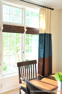 Banded Drapes in MY Dining Room