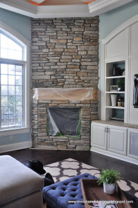 A (Big) Stone Fireplace Update!