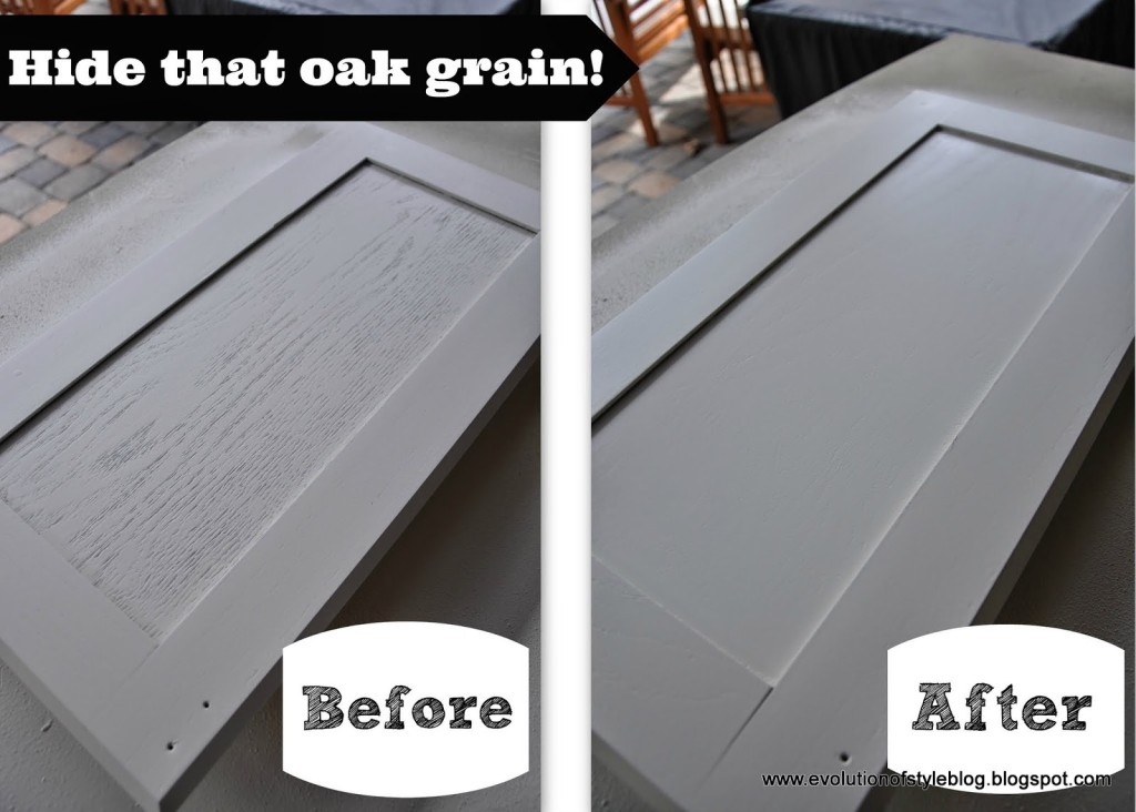 Say goodbye to oak grain evolution of style Best paint for painting wood