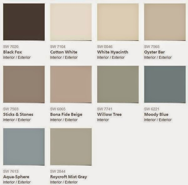 2015 Color Forecast Sherwin Williams Evolution Of Style