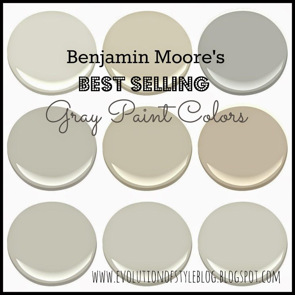 Best selling gray paint colors