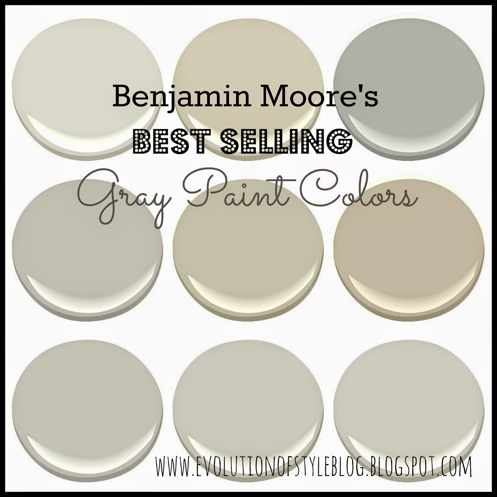 Benjamin moore 39 s best selling grays evolution of style - Best light gray paint color for bathroom ...