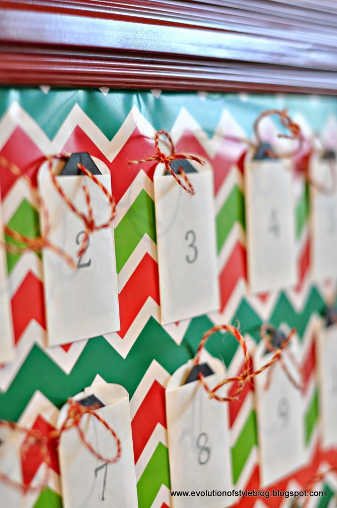 creative diy advent calendars - Easy and pretty advent - EvolutionofStyleBlog.com