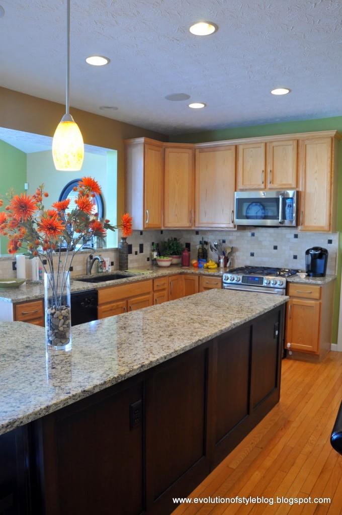 Another builder grade kitchen transformed evolution of style - Builder grade oak kitchen cabinets ...