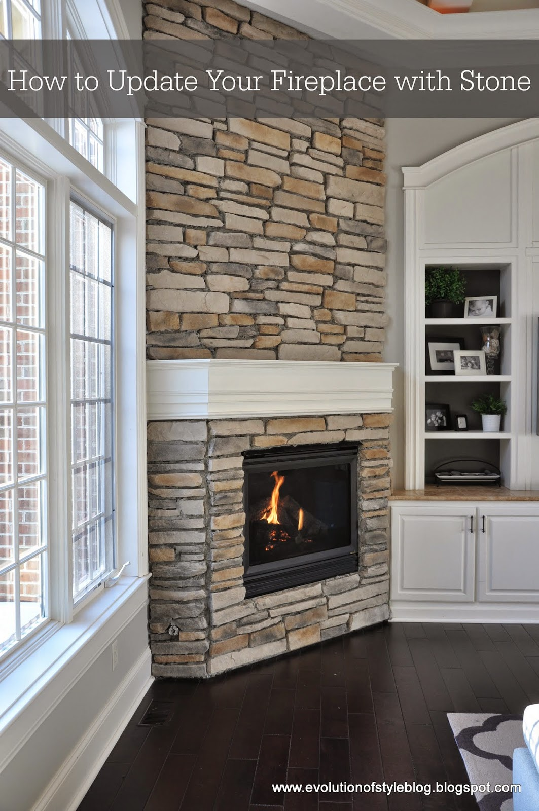 How To Update Your Fireplace With Stone Evolution Of Style