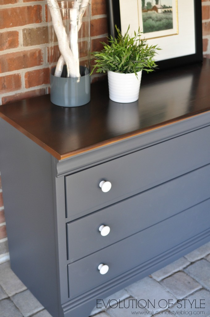 Queenstown Gray Dresser Makeover Evolution Of Style