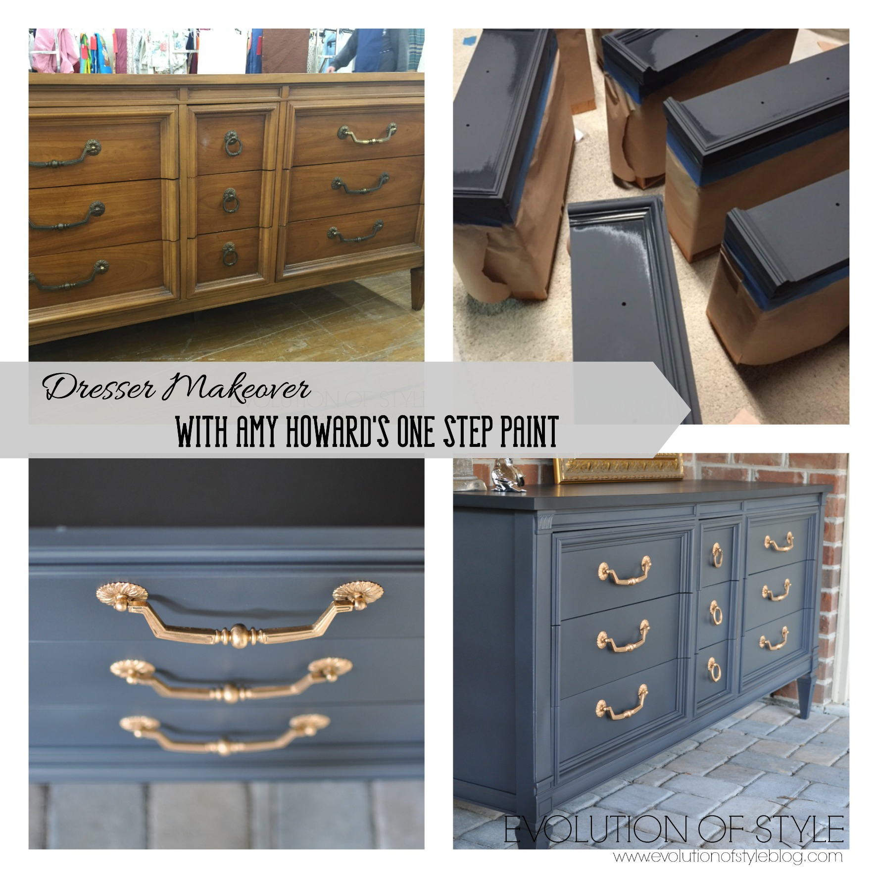 Dresser transformed with amy howard 39 s one step paint for Amy howard paint kitchen cabinets