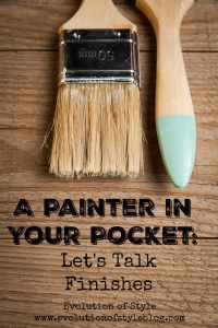 A Painter in Your Pocket: Let's Talk Finishes