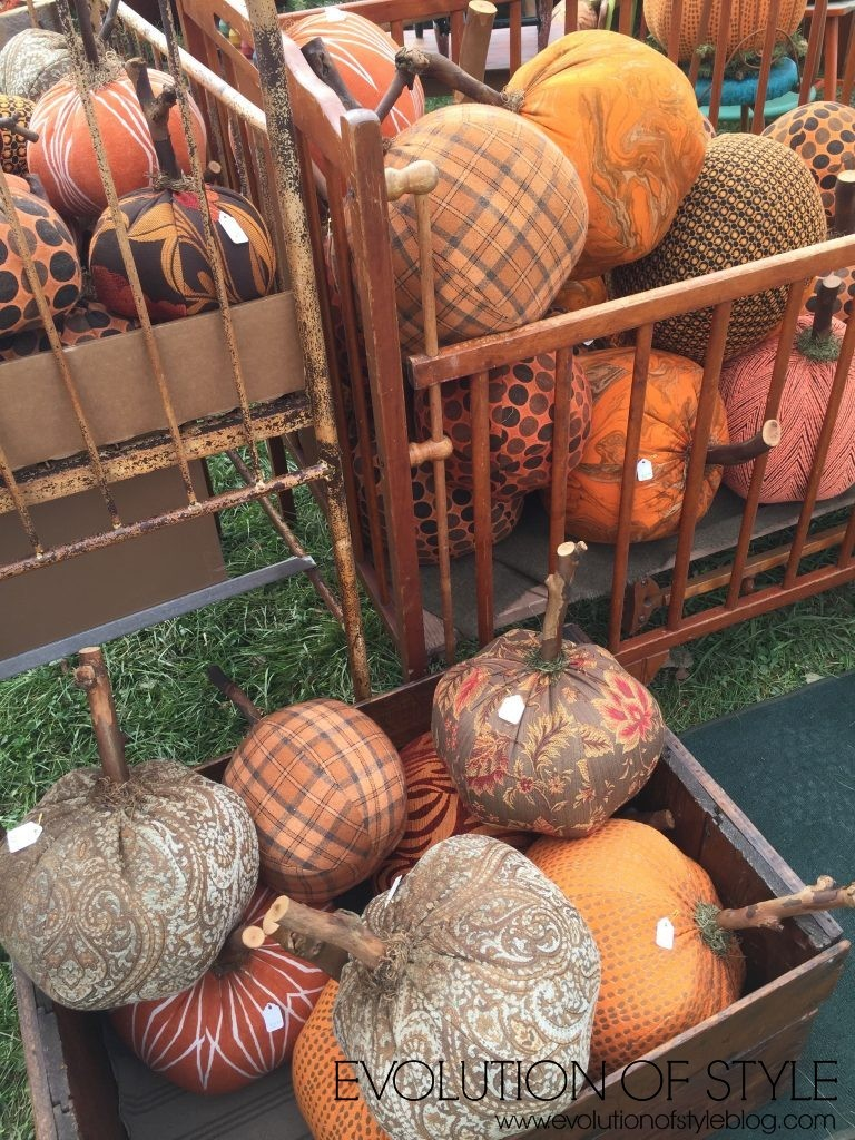 Country Living Fair Fabric Pumpkins