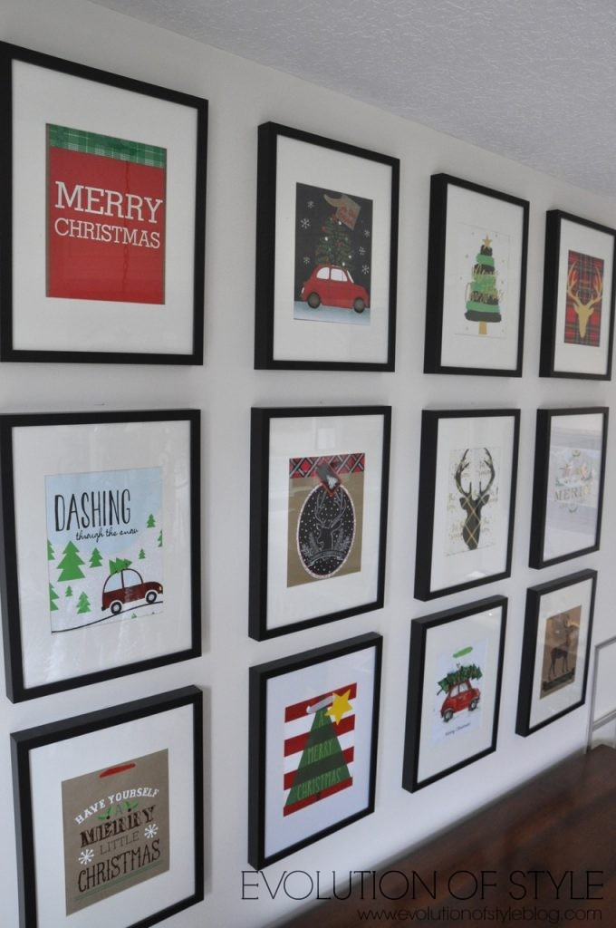 Gift Bag Gallery Wall