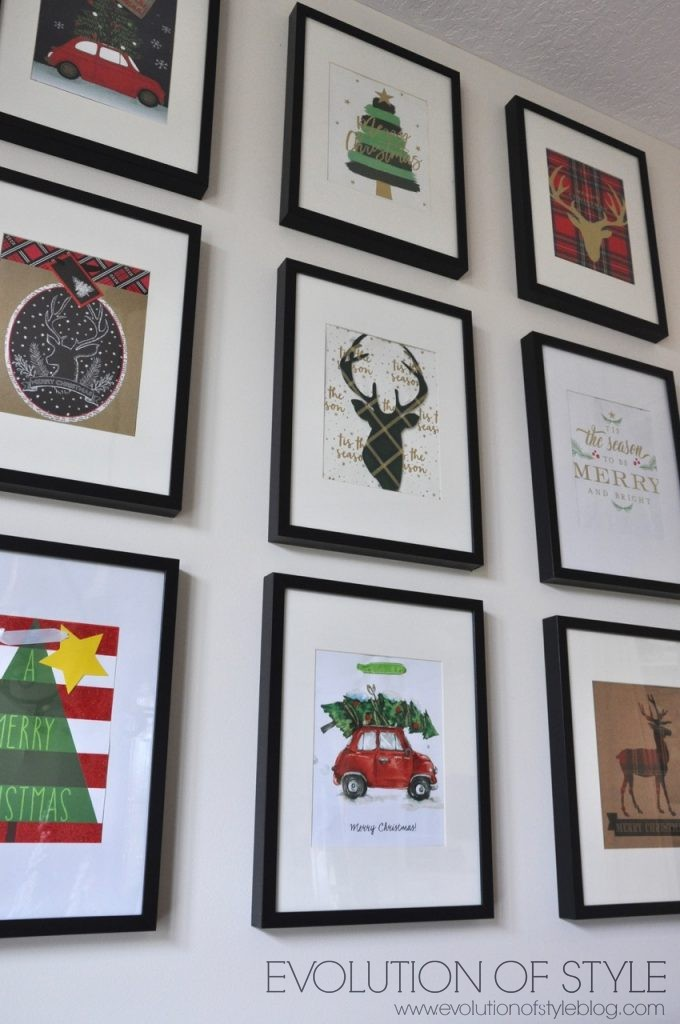 Christmas Gallery Wall from Gift Bags!