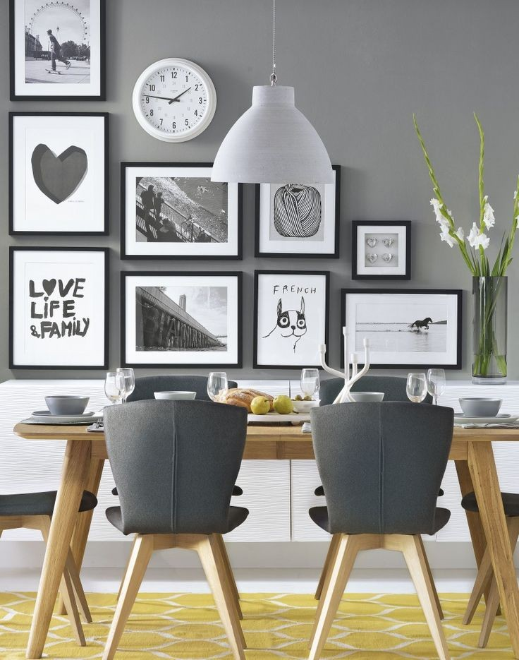 Gray Walls with Wood Accents