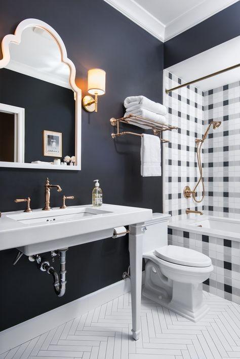 Awesome Navy Bathroom
