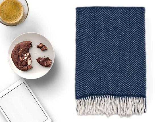 Navy Blue Throw Blanket