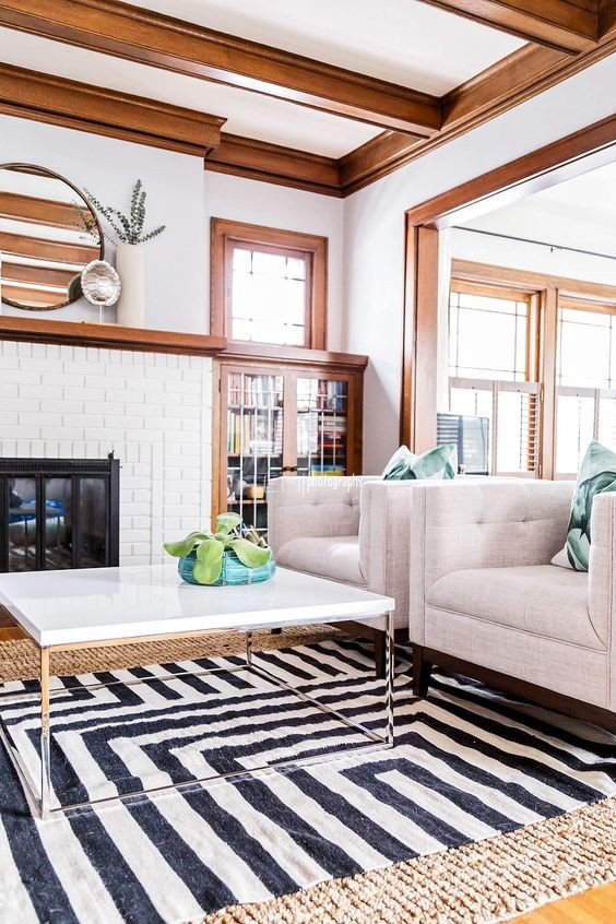 Living Room Color With Brown Woodwork Rustic