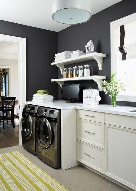 Laundry Room Navy Walls
