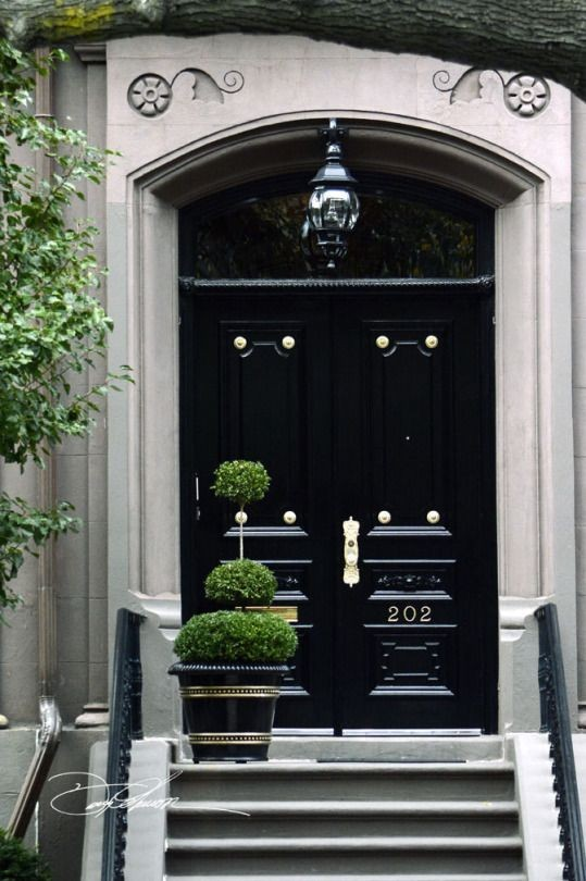 & Black Lacquer Front Door - Evolution of Style