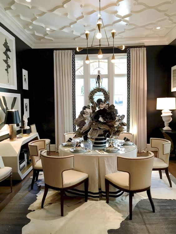 Dining room drama for Most beautiful dining rooms in paris