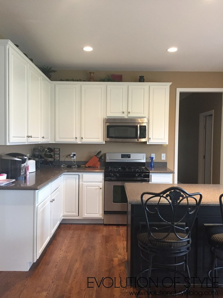 Painted White Kitchen Makeover
