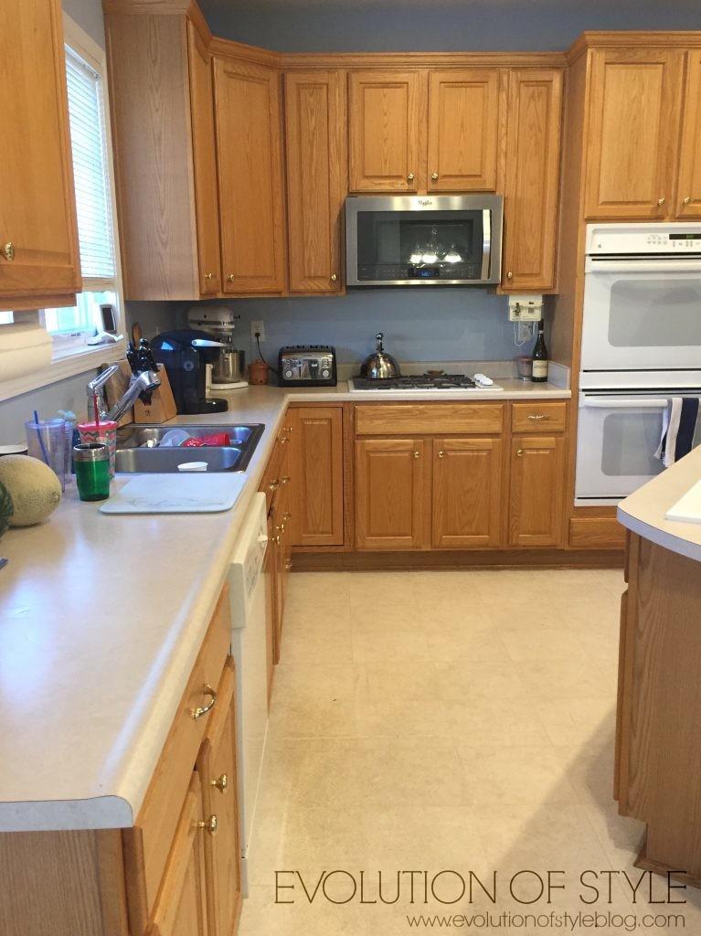 Oak Kitchen Cabinet Makeover