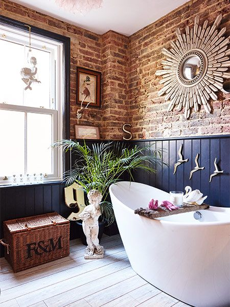 Exposed Brick Bathroom