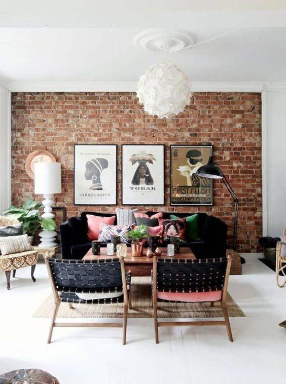 Exposed Brick Family Room