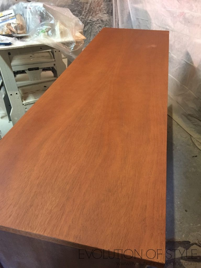 Maple Stained Dresser Top