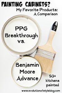 Painting Cabinets: Benjamin Moore Advance vs. PPG Breakthrough