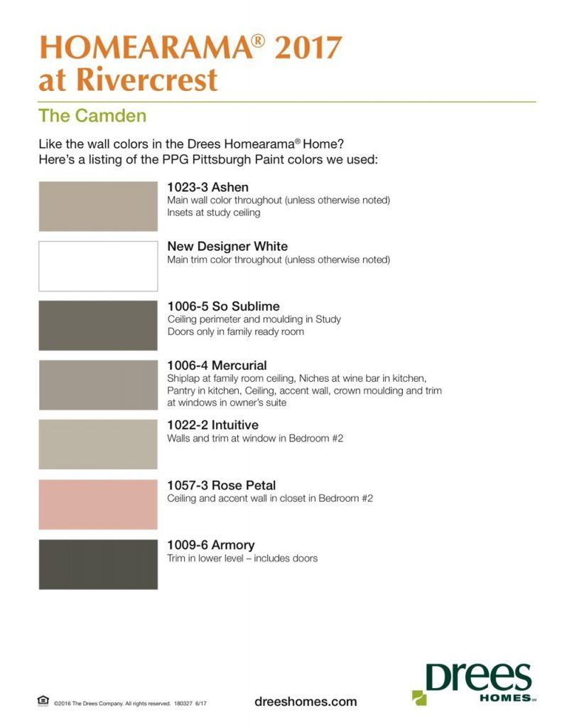 Homearama Paint Palette