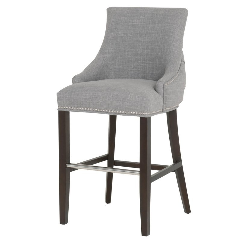 The Hunt for the Perfect Barstool - Gray Tufted Barstool