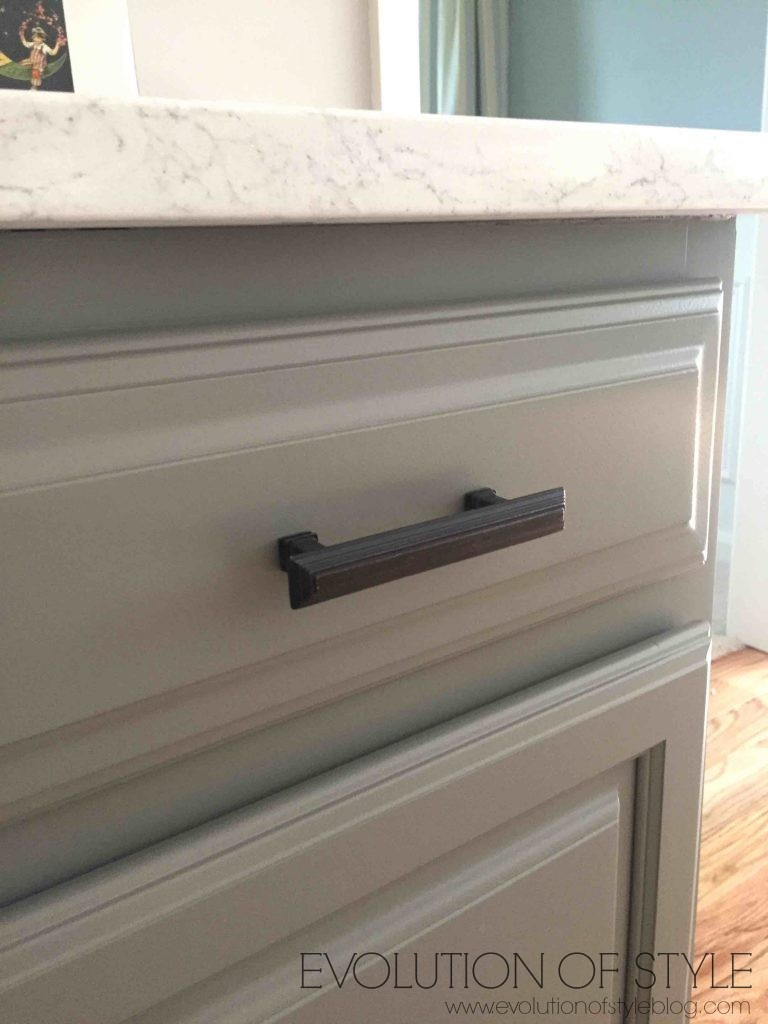 Simply White And Chelsea Gray Kitchen Evolution Of Style - Hardware for gray cabinets