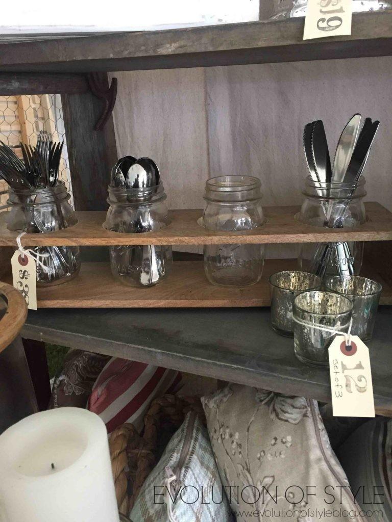 Country Living Fair Silverware Holder