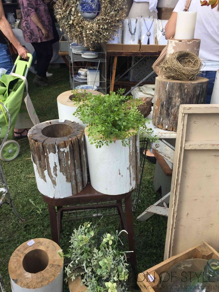 Country Living Fair Stump Decor