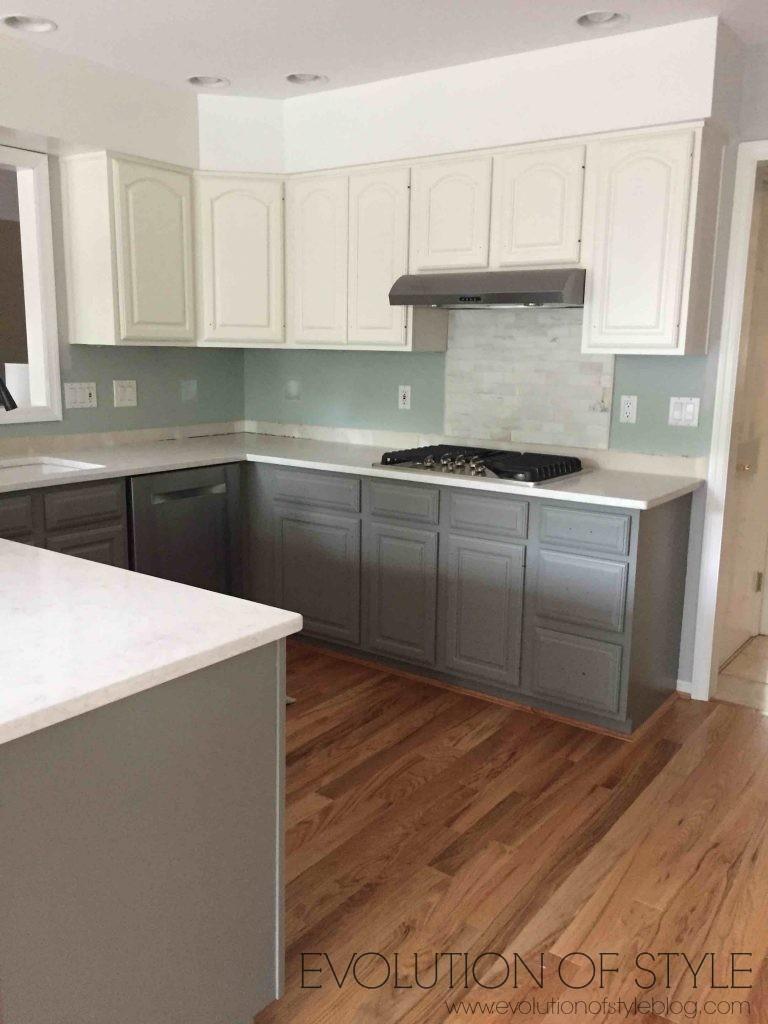 Gray and White Kitchen Mistint