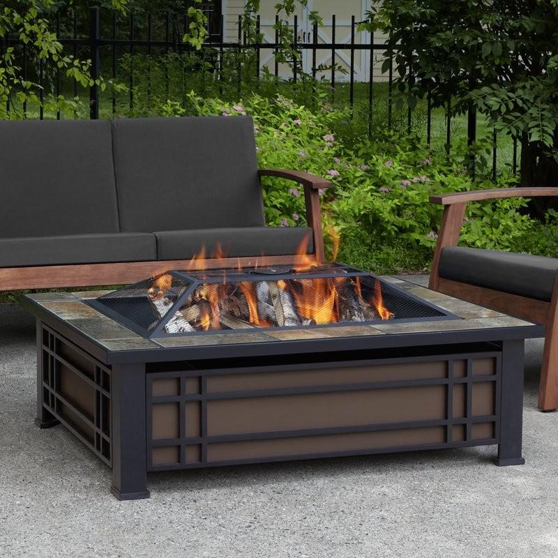Hamilton+Steel+Wood+Burning+Fire+Pit+table