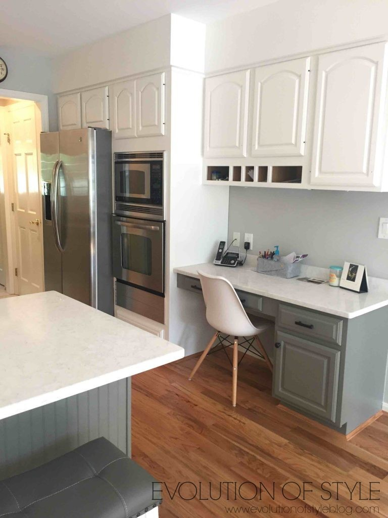 Gray and White Two Toned Kitchen Cabinets