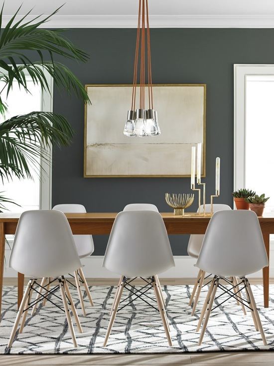 Dark Dining Room Big Artwork