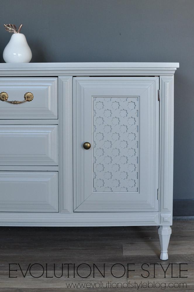 Painted Gray Dresser