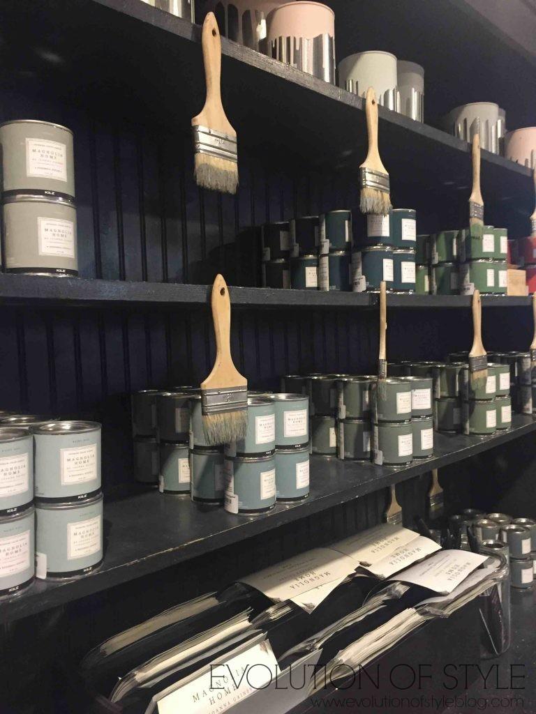 Magnolia Market Paint Displays