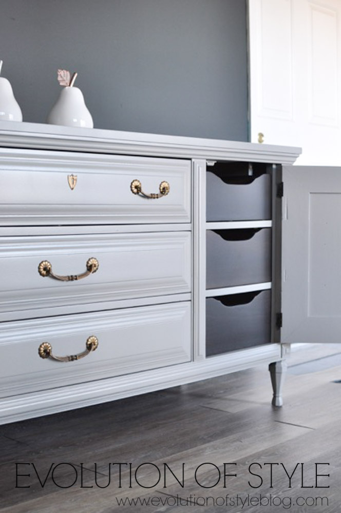 RePurpose Painted Dresser in Flannel Gray