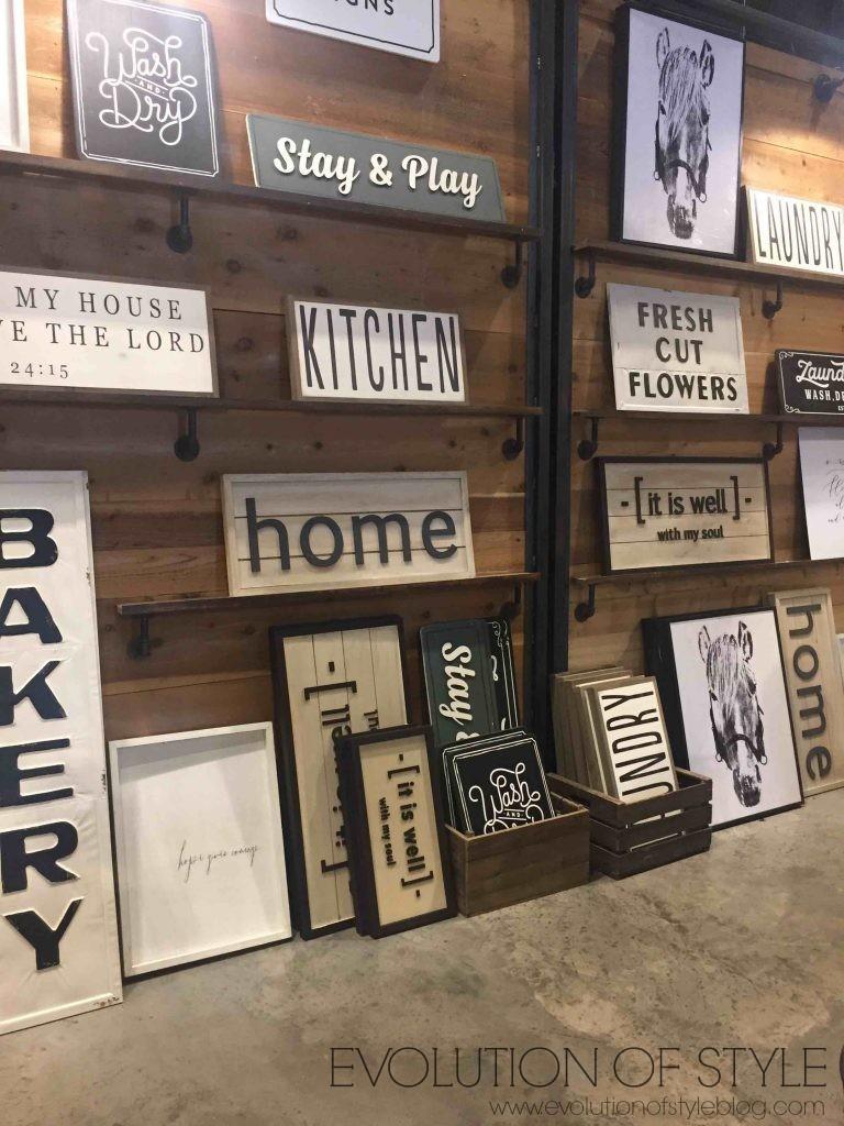 Signs at Magnolia Market Silos