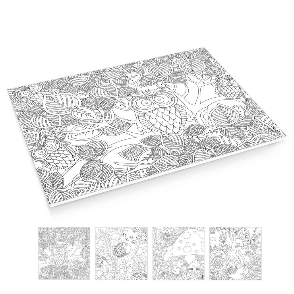 Adult Coloring Place Mats
