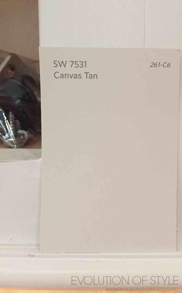Canvas Tan Cabinet Color