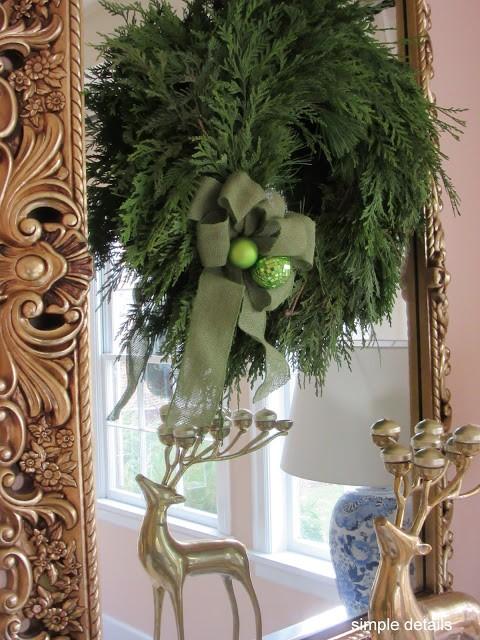 Eclectic Home Tour - Lynch Farms Wreath - Simple Details
