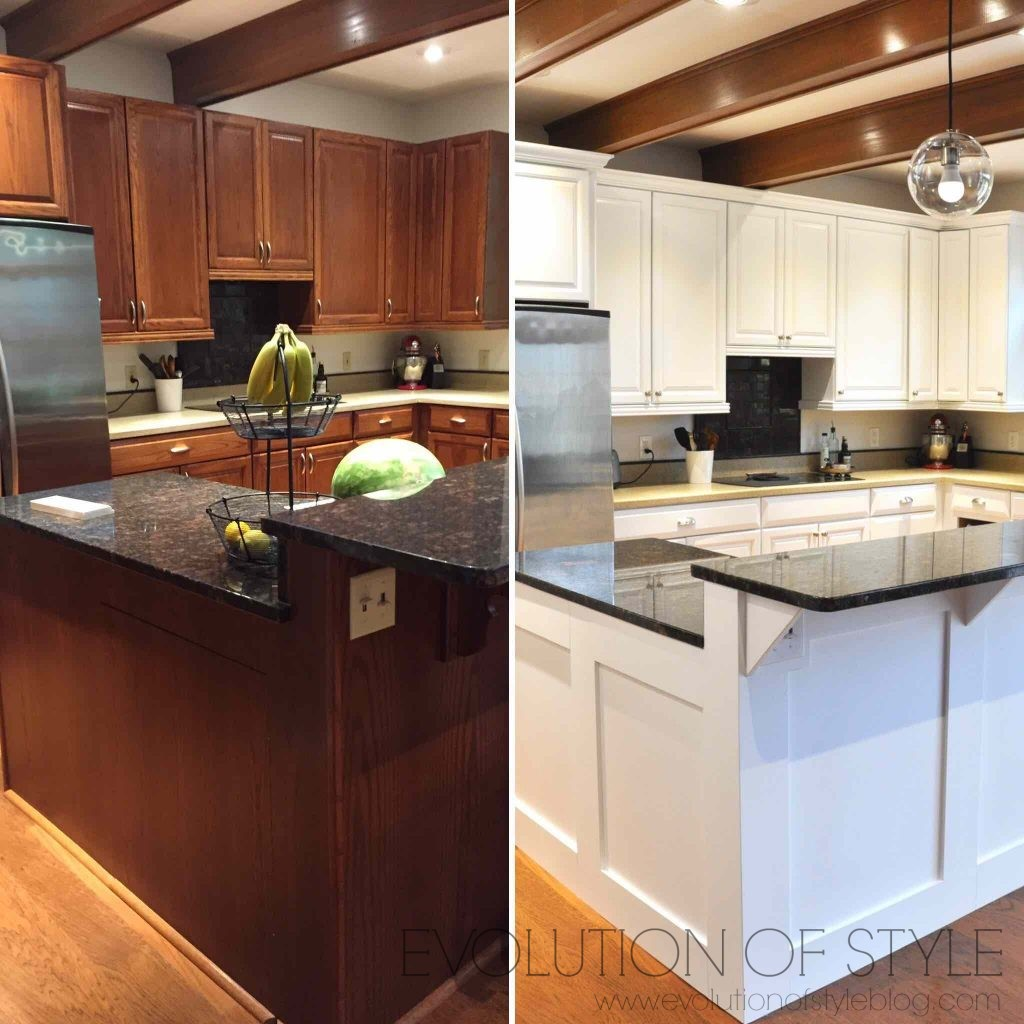 painting oak kitchen cabinets white before and after painter in your pocket course evolution 9880