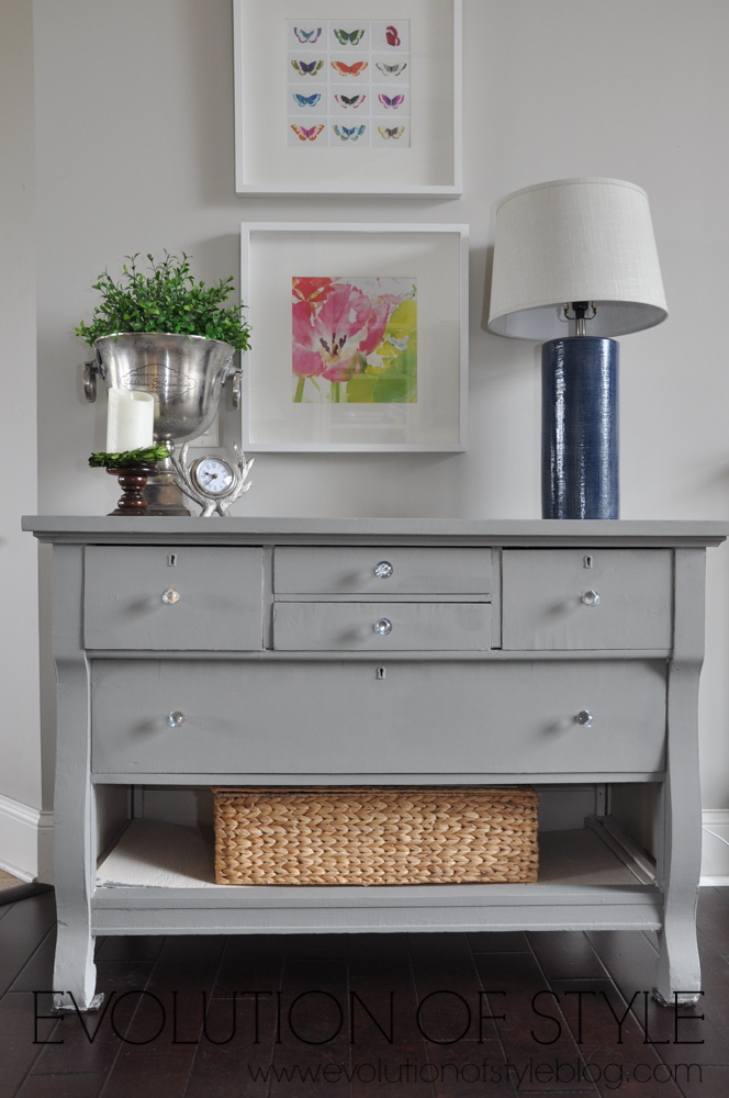 Magnolia Home Dresser Makeover- Garden Trowel Paint Color