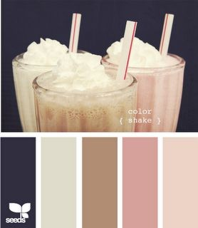 Navy and Blush Color Palette
