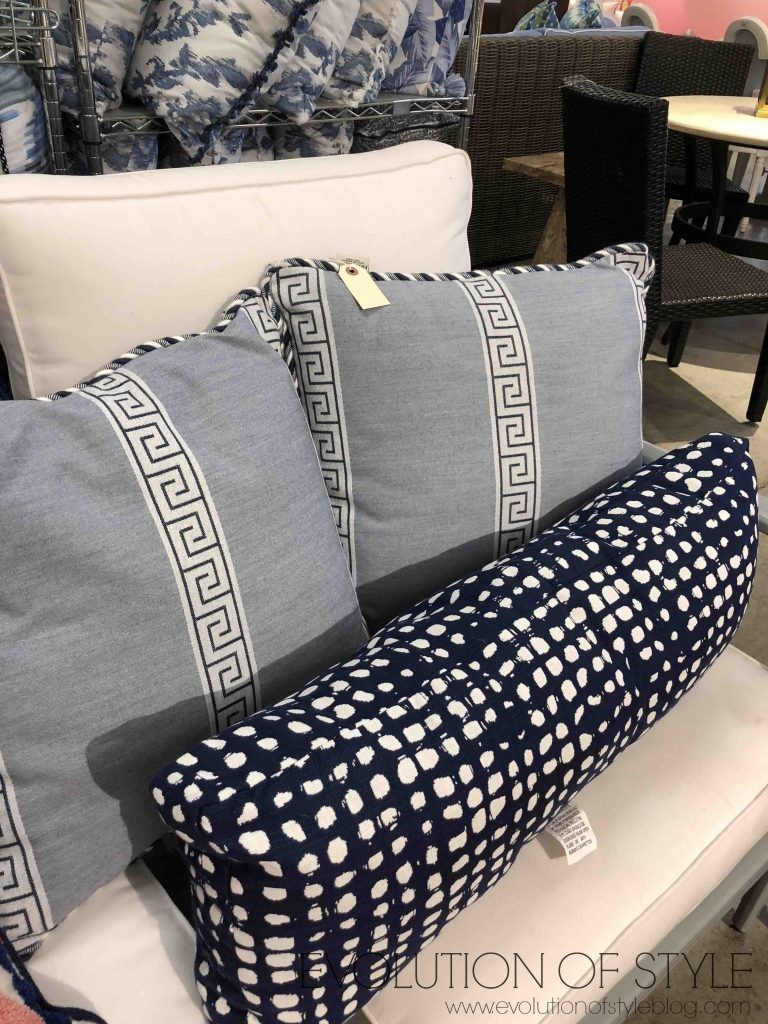 Navy Outdoor Pillows Frontgate Outlet
